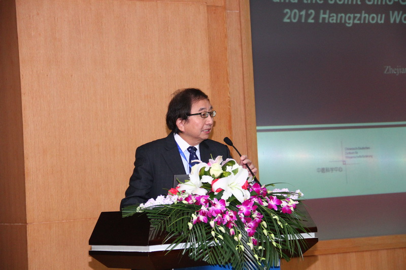 Prof. Fuchun Zhang is chairing the opening ceremony